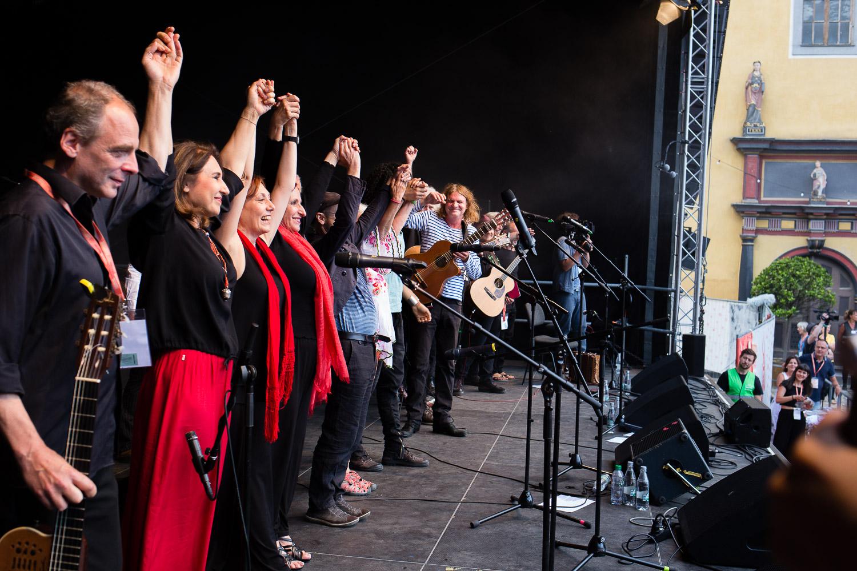 Konzert zum Arbeiterliedprojekt mit Nora Guthrie, Wenzel, Bella Ciao, Ramy Essam, Hanba_Rudolstadt Festival©S. Buschow-sanstories.com