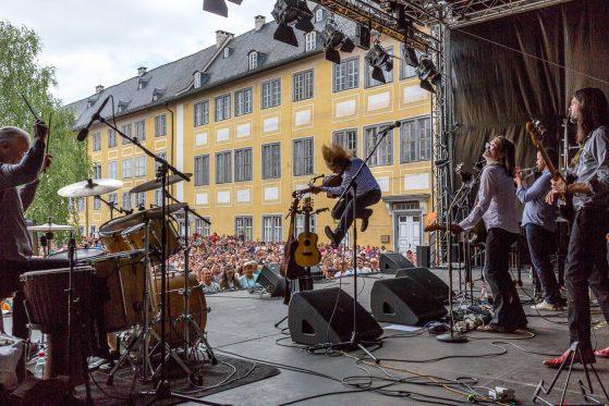 Wenzel und Band, live, Wenzel springt, Rudolstadt Festival©S. Buschow_sanstories.com