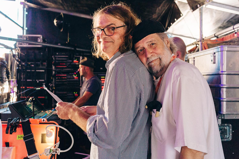 Wenzel und Michael Kleff vor dem Auftritt, RUTH Verleihung_Rudolstadt Festival©S. Buschow-sanstories.com
